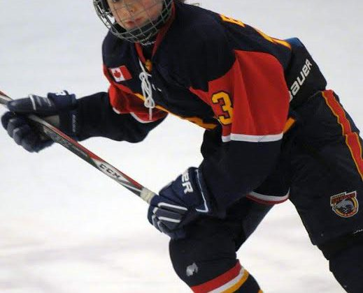 Young Bracebridge hockey player helps to bring home a win in