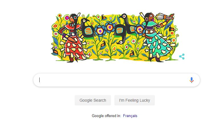 Google Doodle features local First Nations Artist - My