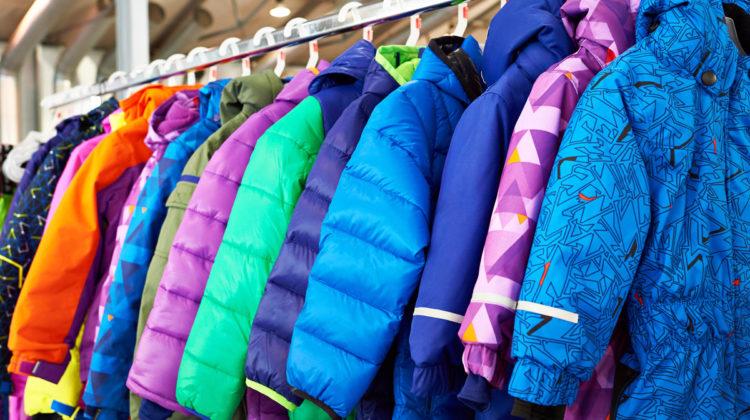 Kids Coats. Stock image.